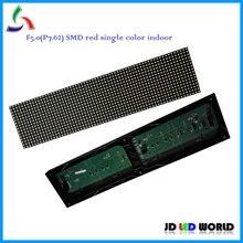 F5.0 P7.62 64*16 точек 488*122 мм SMD Крытый красный цвет светодиодный дисплей модули заменить F5.0 Крытый матричный светодиодные модули