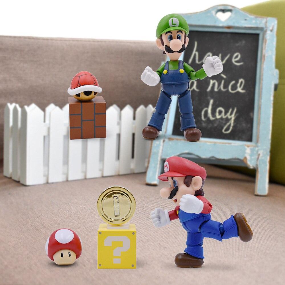 5'' <font><b>Super</b></font> <font><b>Mario</b></font> Bros Luigi <font><b>Action</b></font> <font><b>Figure</b></font> Toys <font><b>PVC</b></font> Tortoise Wall <font><b>Cute</b></font> <font><b>Anime</b></font> <font><b>Figure</b></font> Nendoroid DIY Decoration Game <font><b>Figure</b></font> Figurines