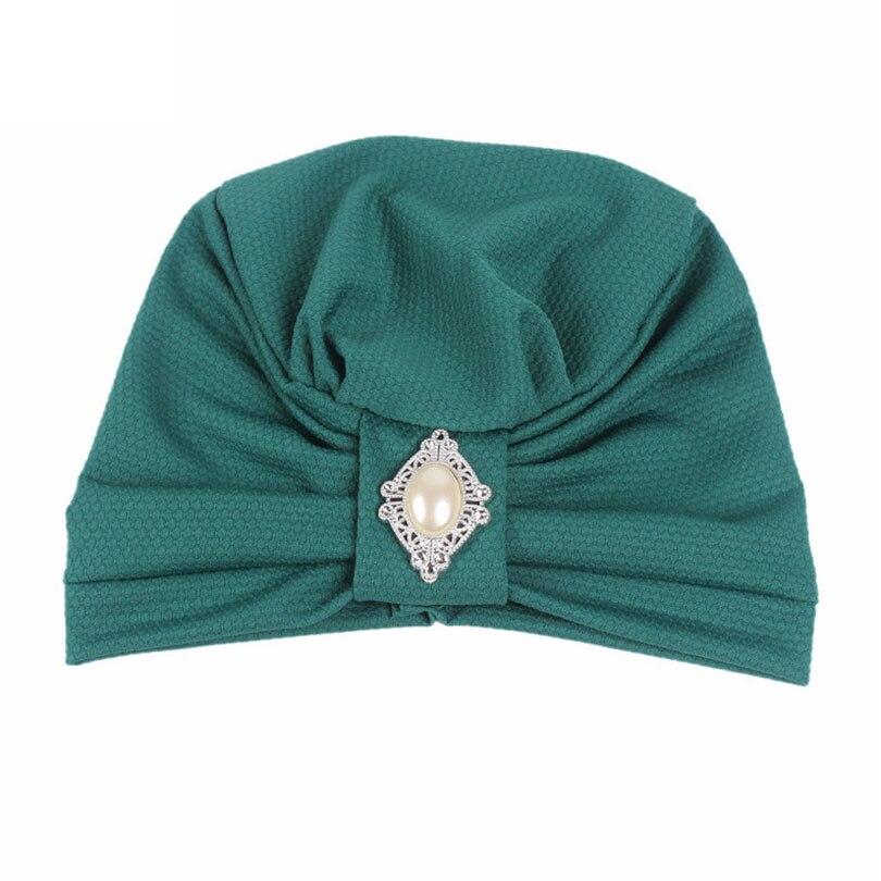 cfdbe04d06a Haimeikang Women Vintage Turban for Women Beanie Hats Headwraps 1920s  Gatsby Cap Flapper Hat Twist Pleated Stretch Headscarf-in Women s Hair  Accessories ...