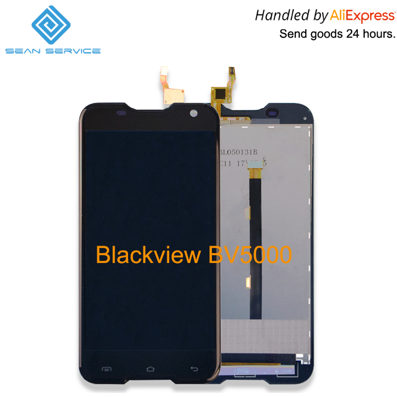 5,0 zoll Für Original Blackview BV5000 LCD lcds Display + Touchscreen Digitizer Assembly Ersatz Werkzeug + kleber + HD Film lager