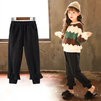 Children's Autumn Pants 2018 Winter New Girls Casual Pants Thickened Woolen Kids Pants Girls Trousers Teenager Clothes,#3637