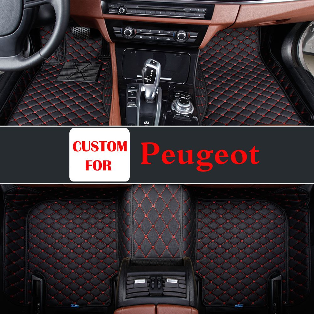Special Left Driving Model Customize Special Durable Car Floor Mats Brown Black Color For Peugeot 307 308cc 308s 508 2008 3008