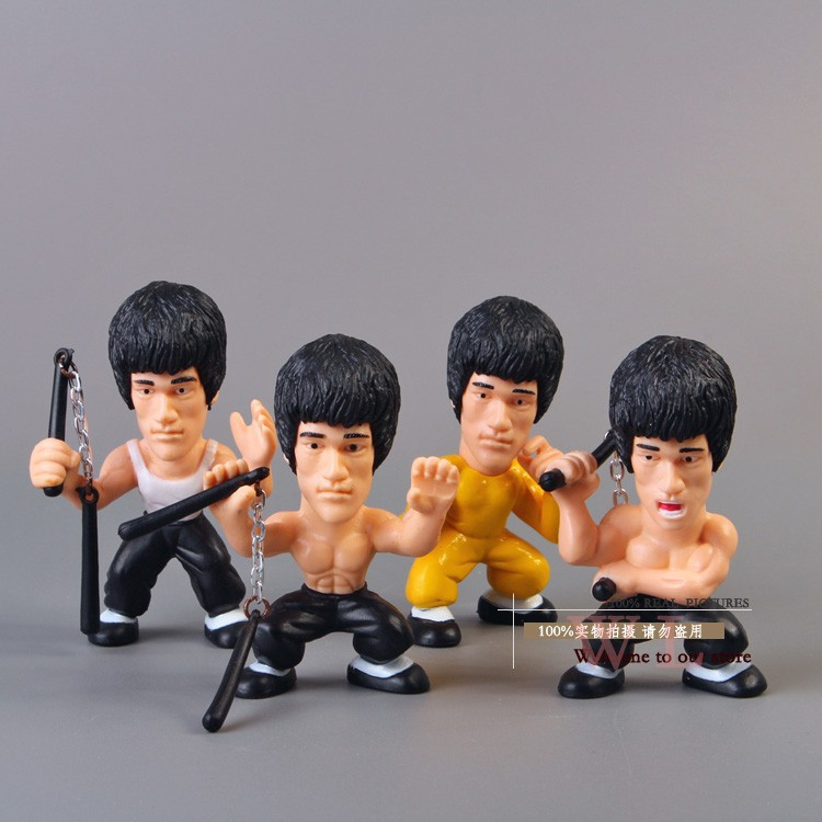 Free Shipping Kung Fu Master Bruce Lee Q Versions PVC Action Figure Collectors Edition Toys OTFG075 kung fu master bruce lee pvc action figure collection toys the blind monk lee sin lol action figure legend of the dragon gifts