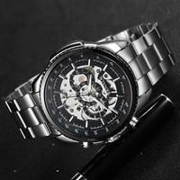победитель скелет механические часы роскошные мужские черные непромокаемые повседневные брендовые спортивные часы военные часы relogios masculi