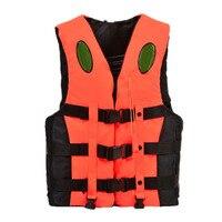 Boating Ski Vest Adult PFD Fully Enclosed Size Adult Life Jacket Orange XXXL