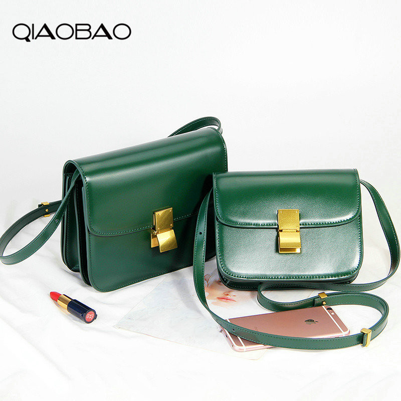 QIAOBAO 2018 Leather Women Shoulder Bag Tofu Tote Messenger Bags Famous Designer Brand Luxury Handbags etro Female Small Purse qiaobao 2018 new korean version of the first layer of women s leather packet messenger bag female shoulder diagonal cross bag