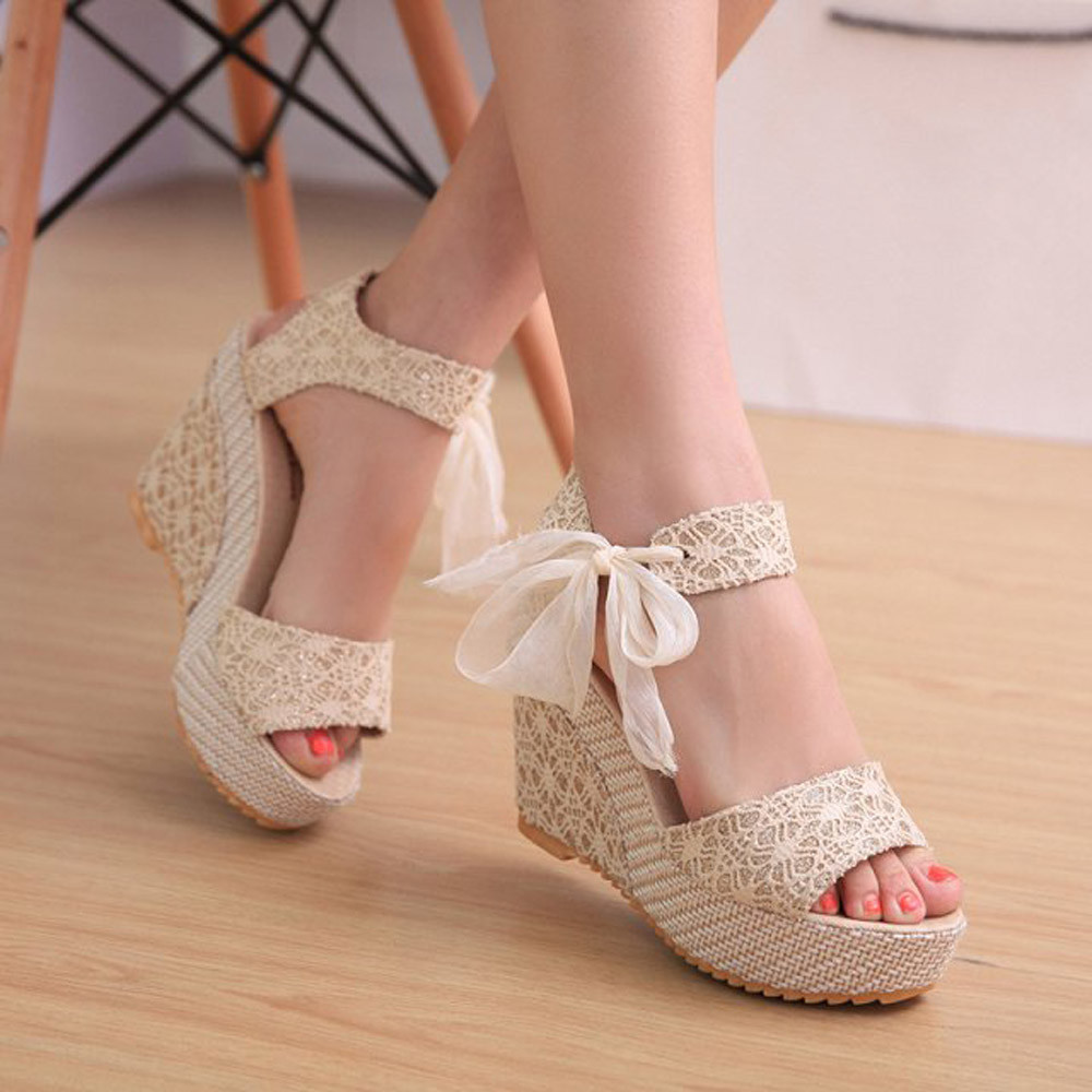 Wedge Sandals Female Shoes Platform Open-Toe High-Heels Fashion Summer Women New-Arrival