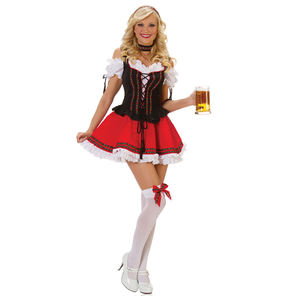 Aliexpress.com : Buy Red Lace up halloween Costume oktoberfest ...
