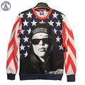 Mr.1991INC Autumn winter Fashion Men/Women's 3d Sweatshirts print Riche lady flag stars cotton 3d hoodies tops