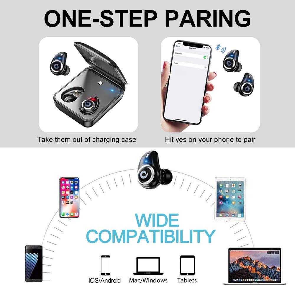 Image 4 - Bluetooth 5.0 Earphone True Wireless EarBuds IPX7 Waterproof Stereo Headset 2000mAh Power Bank Phone Charge For iPhone 6s 7 Sony-in Bluetooth Earphones & Headphones from Consumer Electronics