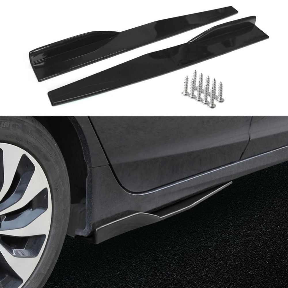 2pcs 74.5 ซม.รถด้านข้างกระโปรง Rocker Splitters Winglet ปีก Diffuser Professional Auto Car อุปกรณ์เสริมปรับแต่งรถร้อน