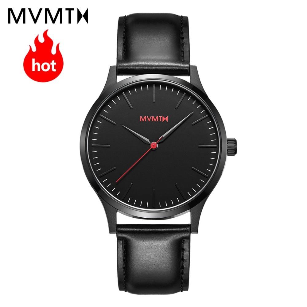 MVMT watch authentic fashion simple retro men's watch leather strap / steel strap waterproof quartz watch 40mmdw все цены