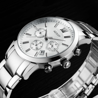 AESOP Sapphire Crystal Watch Men Sport Quartz Stopwatch Wristwatch Auto Date Leather Male Clock Relogio Masculino Hodinky New 46