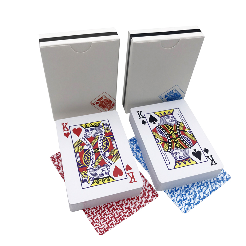 New Hot 2 Sets/Lot Baccarat Texas Hold'em Plastic Playing Cards Waterproof Smooth Poker Card Board Bridge Games 63*88mm qenueson