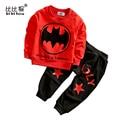 Nueva Llegada de bebes Niños Ropa Set Polar roupa Deportes traje Ropa de Niño ropa de dormir de Algodón batman Spiderman Niños Que Arropan el sistema
