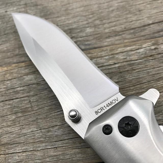 LDT DA43 Folding Knife 8Cr14Mov Blade Steel Rosewood Handle Camping Survival Knives Pocket Outdoor Hunting Knife EDC Tool 5
