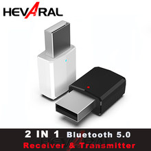 HEVARAL 2 IN 1 USB Bluetooth Receiver Transmitter For Headphone TV APTX Stereo Audio Adapter For Car Fast Connect Mini Adapters(China)