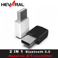 HEVARAL 2 IN 1 USB Bluetooth Receiver Transmitter For Headphone TV APTX Stereo Audio Adapter For Car Fast Connect Mini Adapters