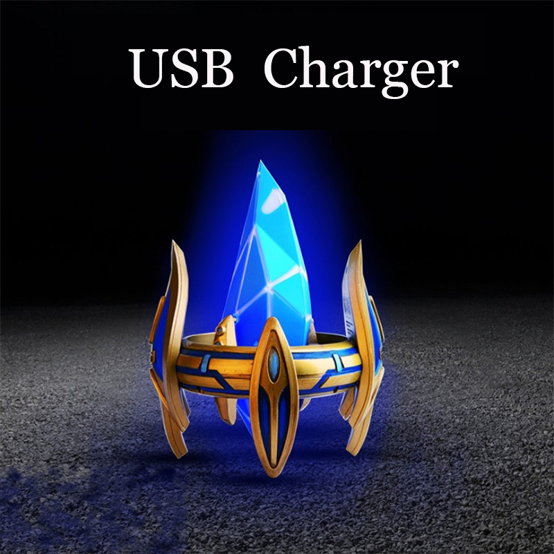 New Protoss Pylon USB Charger Desktop Power Station Blizzcon LED Light Figure Model Toys Figure Toys