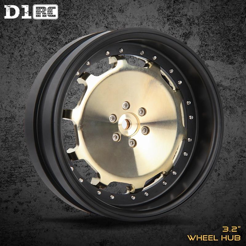 4pcs D1RC 3 2 Inch RC1 10 1 8 Simulation Crawler armor Beadlock Wheel Rim For