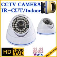 Big Sale 1 3cmos 1200TVL INDOOR Dome Surveillance Security HD CCTV Analog Camera 36LED IR CUT