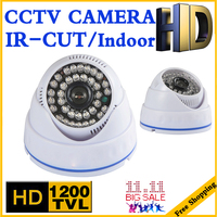 Big Sale 1 3cmos 1200TVL INDOOR Dome Surveillance Security HD CCTV Analog Camera 36LED IR CUT