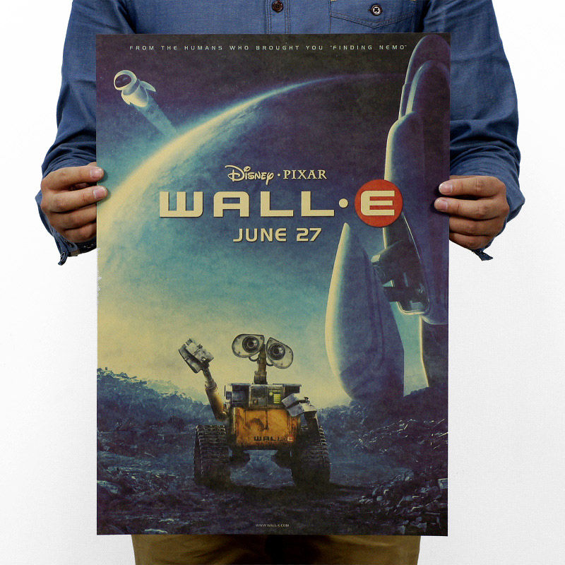 WALL E Vintage Kraft Paper Classic Movie Poster Magazine Home Decoration  Art  Retro Posters And Prints Decorativos