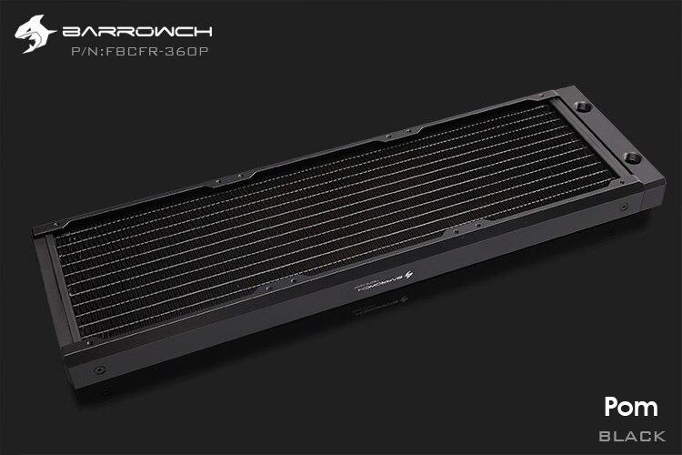 Barrowch FBCFR-360, хамелеон рыбы модульные 360 мм радиаторы, акрил/Пом съемные радиаторы, подходит для 120 мм вентиляторов - Цвет лезвия: POM-Black