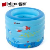 Intime 106cm Inflatable Round Swimming Pool Baby Bathtub Children Kids Outdoor Indoor Activities Garden Parties 106x75cm Blue