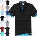 Estilos de verano tamaño grande marca camisa polo ralphly hombres camisa de polo del algodón más el tamaño XXXL corto manga clásico sólido delgado tops