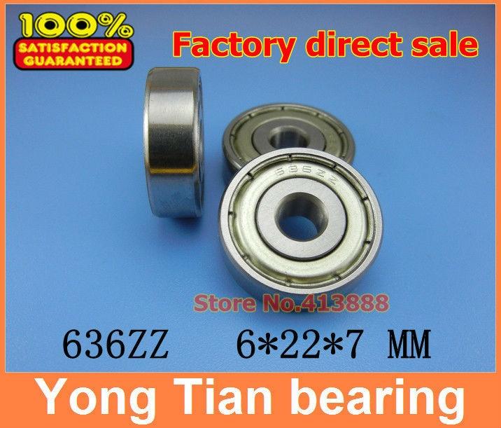 Прямая с фабрики 636 636ZZ 636-2RS S636ZZ S636-2RS 636Z 80036 6*22*7 мм Высококачественный миниатюрный глубокий шаровой подшипник