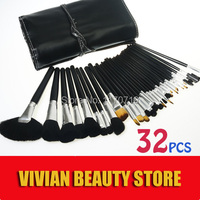 2015 Hot Animal Hair Professional Makeup Brush Set 32PCS Makeup Brushes Cosmetics Brushes Including A Deluxe