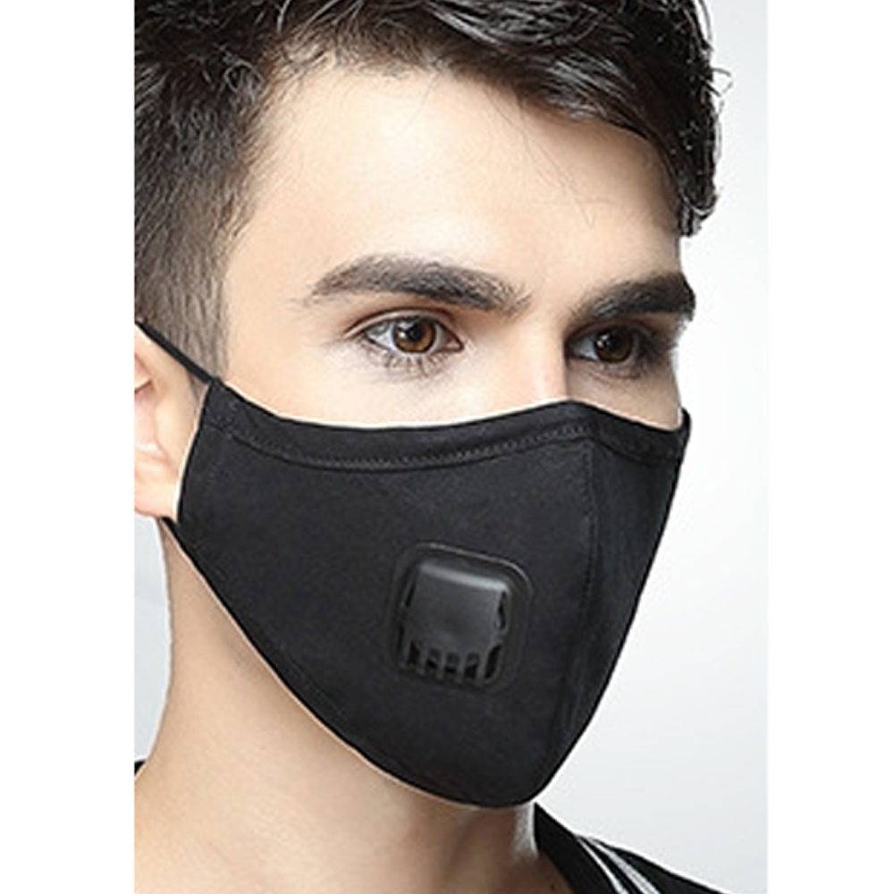 1 Pcs Cotton Black Health Dustproof Anti-Dust Unisex Mouth-Muffle Face Masks Warm Black Unisex Breathing Face Cover Outdoor