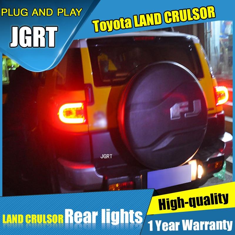 2 шт. стайлинга автомобилей для Toyota FJ Крузер задние фонари для 2007-2014 FJ Крузер LED задний фонарь+сигнала поворота+тормоза+задние светодиодные