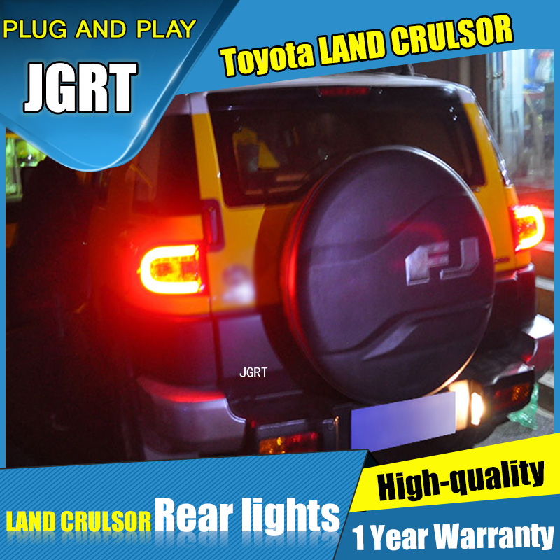 2PCS Car Styling for Toyota Fj CRUISER Taillights 2007-2014 for Fj CRUISER LED Tail Lamp+Turn Signal+Brake+Reverse LED light car styling tail lights for toyota fj cruiser 2007 2014 taillights led tail lamp rear trunk lamp cover drl signal brake reverse