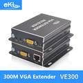 EKL VGA extender 300M sender and  receiver with a single cable transmission