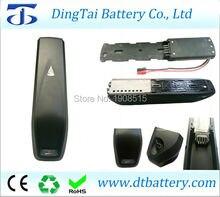 China batería de la bicicleta eléctrica Hailong tubo hacia abajo e bicicleta batería 36 V 10Ah batería li-ion con cargador de electricidad bicicleta