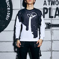 High Quality Men Sweatshirt Milk Print Casual Long Sleeve Pullover O-Neck Solid Sudaderas Homme Fashion Tops Men Clothes