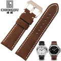 24mm Men's Watch Band For Panerai Watches Strap Clock Bracelet Leather Male Straps Watchbands Black Brown Strap Montre Pulseras