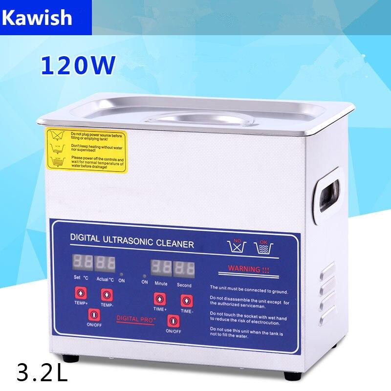 120 W 3.2L Deisel rampe commune injecteurs de carburant en acier Machine de nettoyage de réservoir à ultrasons pour pièces de pompe buses vannes nettoyeur