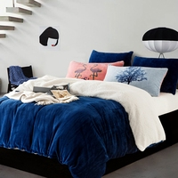 Fleece winter duvet cover sets queen king size 4pcs warm bedding set Flannel Bedlinen