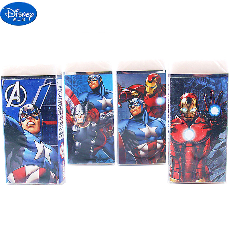 4 Pcs Marvel Cartoon Student Pencil Eraser Primary School Student Kindergarten School Supplies Boy Gift