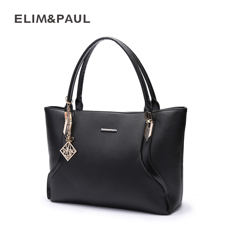 ELIM PAUL bags handbags women famous brands PU leather handbags large capacity tote bag travel shopping