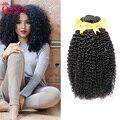 Malaysian Curly Hair Afro Kinky Curly Hair 4 Bundles Lot 7A Unprocessed Malaysian Kinky Curly Virgin Hair Human Hair Extensions