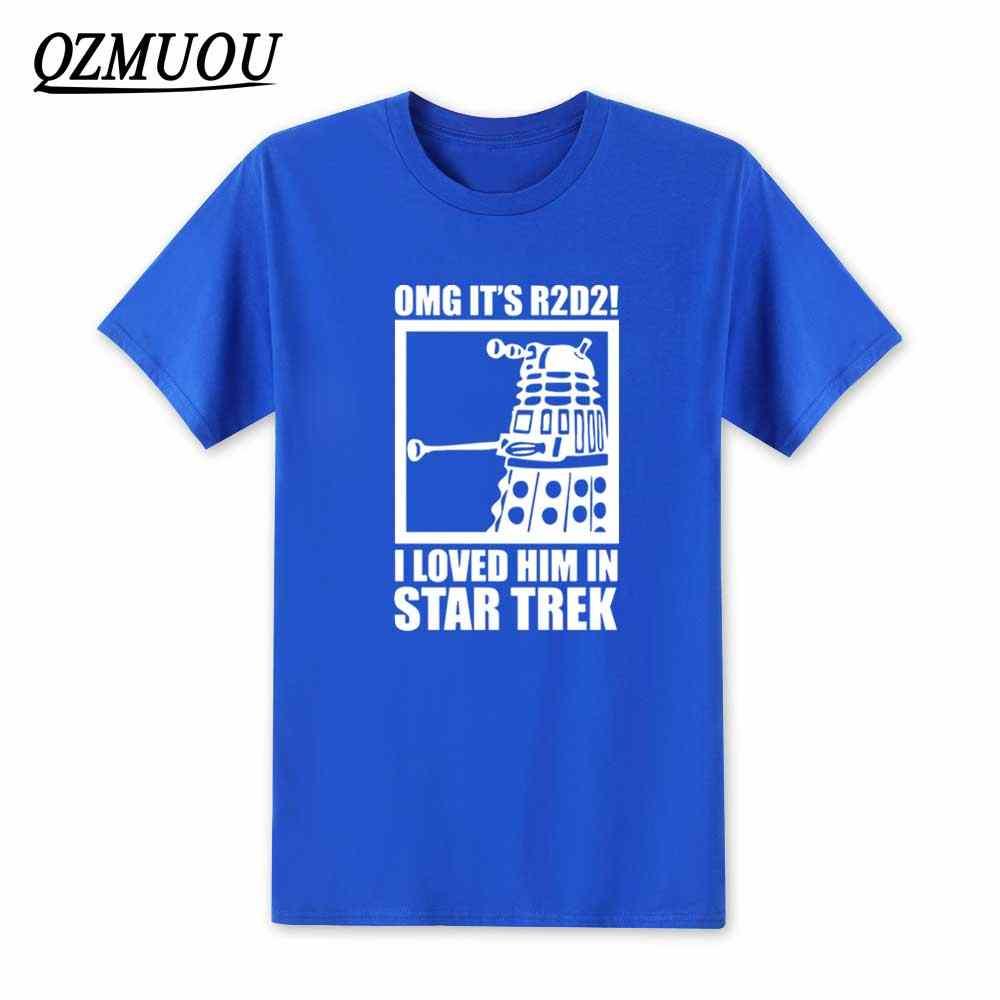 2ac59b9c ... 2019 New OMG It's R2D2 Dalek Star Wars Dr Who Trek T Shirt Fashion Mens  OMG ...