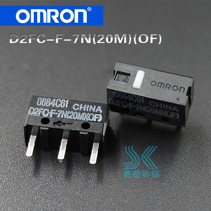 Free Shipping Original OMRON Microswitch D2FC-F-7N 20M OF Suitable For The 10M 50M Button Of Steelseries Logitech Mouse 2pcs