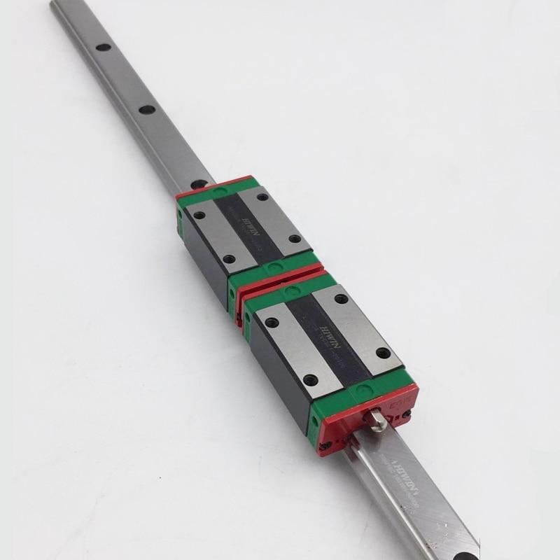 ФОТО 20mm HIWIN Linear Rail HGR20 Guideway & 2pcs HGH20CA HIWIN Rail Block Carriage CNC Kit for Router HGR20R350C+HGH20CAZAC*2