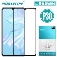 Huawei P30 szkło hartowane Huawei P 30 ochraniacz ekranu Nillkin 3D CP + MAX pełna pokrywa Nillkin folia ochronna ze szkła dla Huawei P30