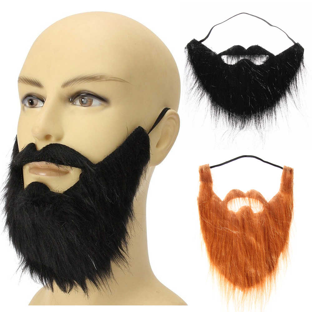 1PC Unisex Fancy Dress Fake Baard Halloween Kostuum Party Facial Haar Snor Grappige Festival Kerst Levert Prom Props