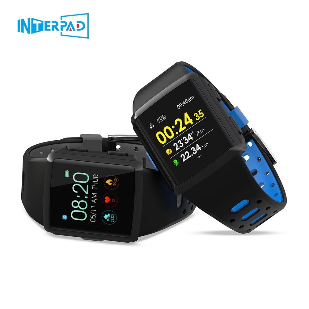 Interpad M3 GPS montre intelligente hommes IP68 étanche fréquence cardiaque Tracker d'activité Smartwatch multi-langue pour Apple iPhone Huawei